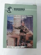 WARRIORS Wehrmacht NCO with Camera Tropical Dress 1:35 Scale Resin Figure #35215