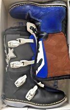 Stivali da moto per uomo Alpinestars M4 da cross, colore nero e blu, numero 47