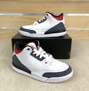 Jordan Retro 3 SE Fire Red Denim White Black Preschool PS Size DB0443 100 Sz 3Y