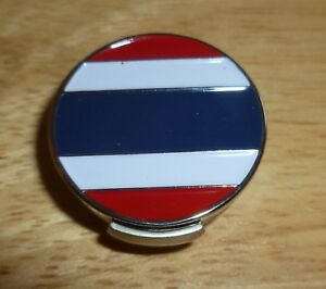 """Thailand Flag golf ball marker 1"""" with Hat Clip"""