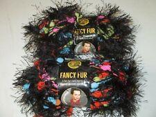 Lot of 2 Fancy Fur Electric Slide Lion Brand Yarn Lot # 5961