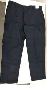 Navy Blue Uniform Work RipStop BDU Pants Cargo  Size 2XL 44-47 x 30 FD Rescue