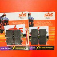 Ducati 999 R Rad Cal 03 > ON SBS Front Brake Pads Dual Carbon 762DC