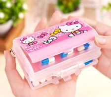 Cute Pink For Hello Kitty Pill Box Organizer Medicine Vitamin Storage Box Travel