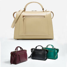 Charles Keith Boxy Top Handle Shoulder Bag With Zip Closure City Handbag