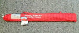 Tommy Bahama 7' Beach Sunblocking Umbrella Red