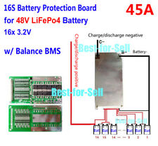 16S 48V LifePO4 Lithium Cells 45A Battery Protection BMS PCM Board with Balance