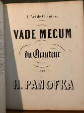 Panofka L'Art de chanter / Vade mecum / 24 vocalises Méthode partition Brandus