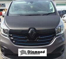 RENAULT TRAFIC 3 2014-  CARBON FIBRE EFFECT FRONT & REAR BADGE COVER SET