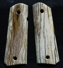 "1911 stag grips ""giraffe bone"" 1911 colt grips"