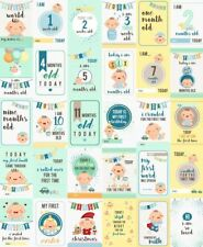Baby Boys Moments and Milestones Cards - Set of 30.