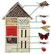Esschert Design Hôtel à Insectes L Nichoir Nichoir 31,4 X 14,9 X 48,3 cm Neuf