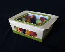 SMALL SALAD ENTREE FOOD BOX, Lot of 250, Heat sealed