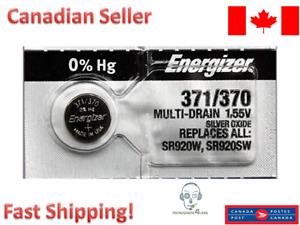 Energizer 371 370 SR920W SR920SW Silver Oxide Battery - 1 Battery
