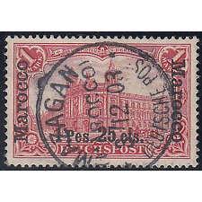 Deutsche Post Marokko Nr.16 II gestempelt geprüft