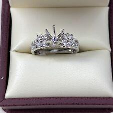 0.51ct Diamond Semi Mount Engagement Ring in 18k White Gold