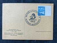 1946 Vienna Secession Vienna Austria Postcard Cover