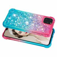 For iPhone 11 Pro Max Case ,Shockproof Glitter Liquid Moving Gradient Soft Cover