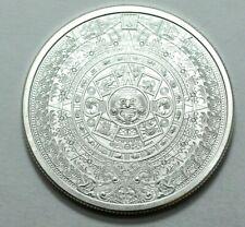 1 Oz 999 Silver Aztec Mayan Calendar Collectible Coin Medal Bullion, Rare, N R !