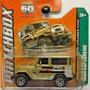 NEW Matchbox 1968 Toyota Land Cruiser FJ40 Gold 2013 No 90 Y8956 Short Card