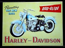 HARLEY-DAVIDSON MOTO BICI POSTER IMMAGINE decorazione GARAGE Duo Glide SCUDO 103