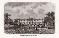 60 COMPIEGNE CHATEAU COTE JARDINS IMAGE 1877 PRINT
