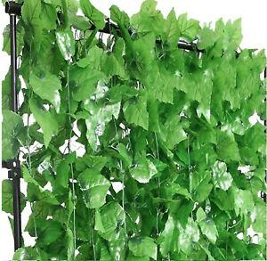 12 x2.3m Artificial Grape Ivy Vine Green Leaf Garland Plants Fake Leaves Foliage