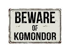 353Vs Beware Of Komondor 8� x 12� Vintage Aluminum Retro Metal Sign