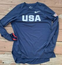 Nike Dri-FIT Team USA Basketball 2016 Olympic Team Issued L/S Shooting Shirt S