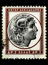ALEXANDER GREAT GREEK POSTAGE STAMP OLD VINTAGE PHOTO ART PRINT POSTER BMP1577A
