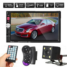 7'' 2 DIN Autoradio Pantalla Táctil Coche Radio FM AUX MP5 Player USB TF +Camara