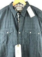 Timberland Mens L Branch River Double Layer Plaid Long Sleeve Shirt Cotton $78