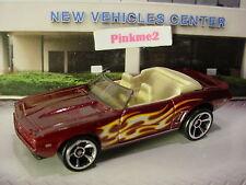 2017 HW FLAMES Design '69 CHEVY CAMARO Conv't☆burgundy-red; mc5☆LOOSE Hot Wheels