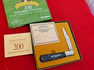 """Remington USA Musket-1 200th Anniversary 5"""" LTD Granddaddy Barlow knife MINT/BOX"""