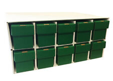 New & Improved Card Penthouse House Storage with 10 Vertical 802 Green Boxes