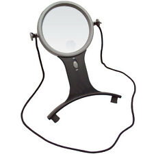 2.5X w/6X Bifocal Lighted LED Hands Free Magnifier