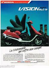PUBLICITE ADVERTISING 095  1988  HONDA  la motomobile VISION MET-IN
