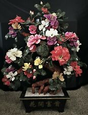 """42"""" Large Jade Flowers Tree 99-38, Only One"""
