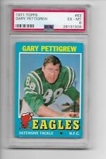 1971 Topps #63 Gary Pettigrew PSA 6 EX-MT Philadelphia Eagles