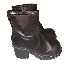 Womens Size 8.5 Lug Boots Heels Combat Boots Lower East Side * Flaws* T2