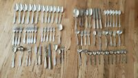 Lot of 70+ Silver Plate Spoons, Forks & Knives, WMF and Other Brands