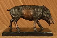Bronze Art Deco Hot Cast Wild Boar Pig Statue Sculpture Figurine Home Decor Sale