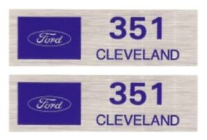 FORD 351 CLEVELAND Valve Cover Decals