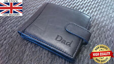 🔥 Personalised Real Leather Wallet Engraved men coin card RFID Fathers day gift