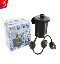 BATTERY POWERED ELECTRIC AIR PUMP FOR INFLATABLE BED AIRBED CAMPING FOOT AIRPUMP