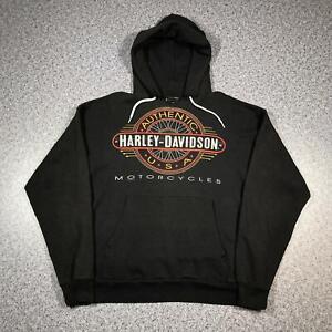 1995 Vintage HARLEY DAVIDSON Mens Hoody Large | Biker Jumper Sweatshirt USA