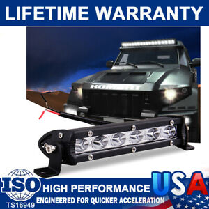 18W 7Inch Waterproof Spot Led Work Lights Bar ATV 4WD Car Boat Truck Offroad SUV