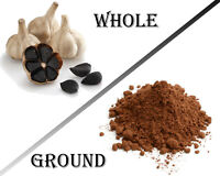 100% Black Garlic Natural Fermented Whole Bulb and Ground Powder Superfood