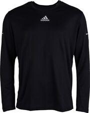 Adidas RUNS LS TEE M Black Silver Reflective Long Sleeve Running Men's Shirt