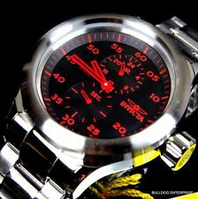 Men's Invicta Russian Diver GMT Stainless Steel Black Red New Watch MSRP $795